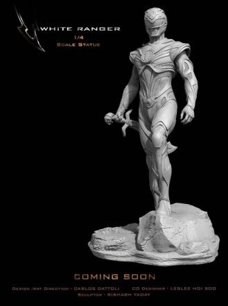 Statue ranger blanc 1