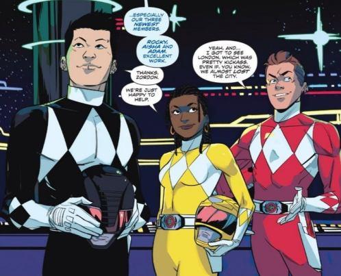 comics power rangers aisha rocky et adam