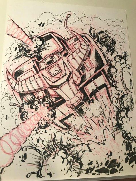 Un ZeoZord dessiné par Matt Frank