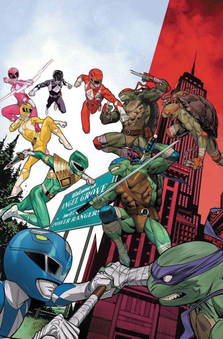Teenage_Mutant_Ninja_Turtles_Mighty_Morphin_Power_Rangers_Issue_2_Boom_Studios-2